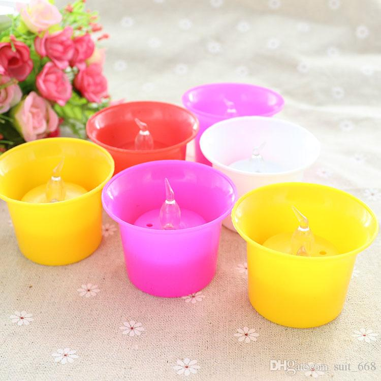 Direct festive wedding dance bar promotional gifts stall selling luminous electronic Valentine birthday candles