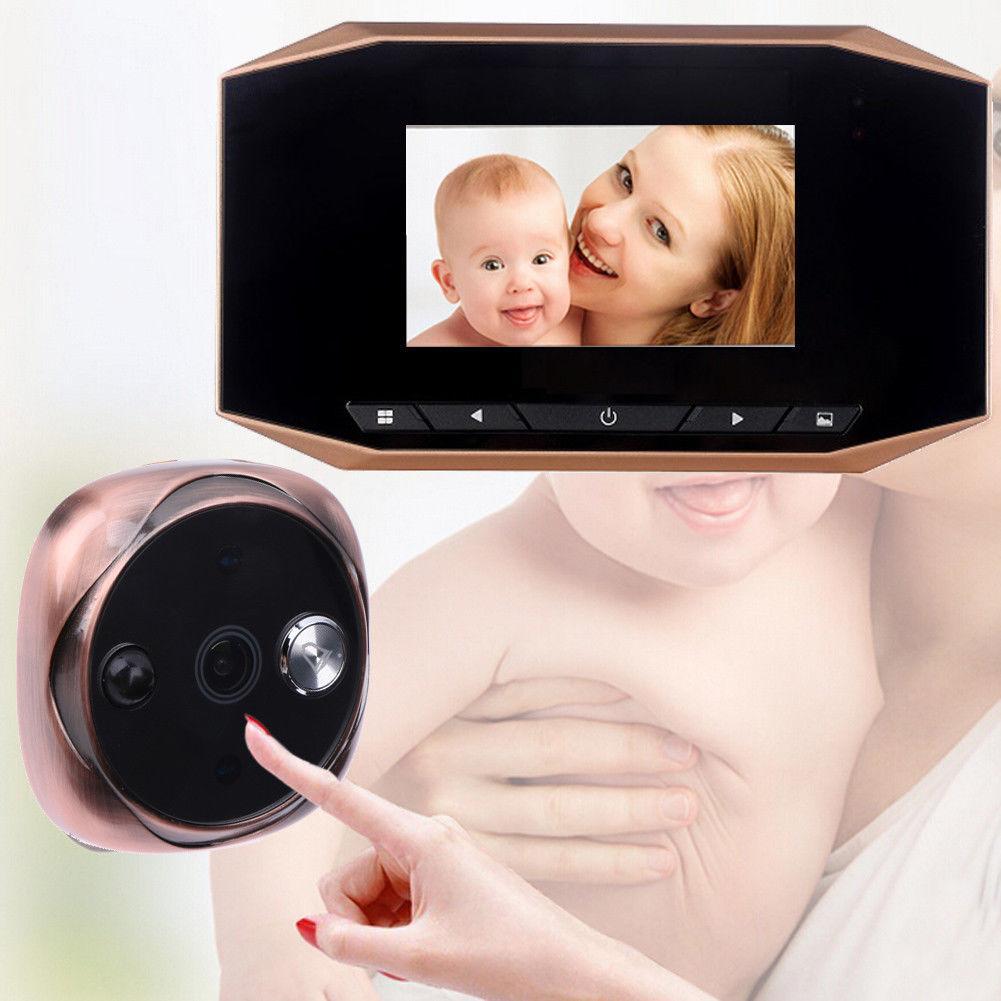 "3,5 ""Digital Peephole Viewer Bewegungserkennung Tür Augenkamera PIR Video Türklingel"