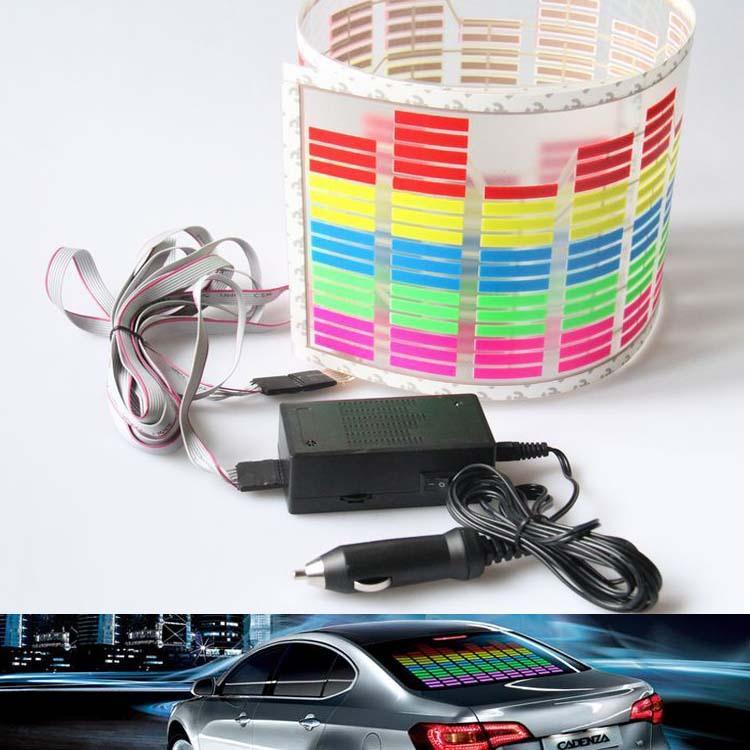 5 Farben Auto Musik Rhythmus führte Dekoration Licht / Auto Sprachsteuerung Lampe / Musik Lampe / Sound Musik aktiviert Equalizer Aufkleber
