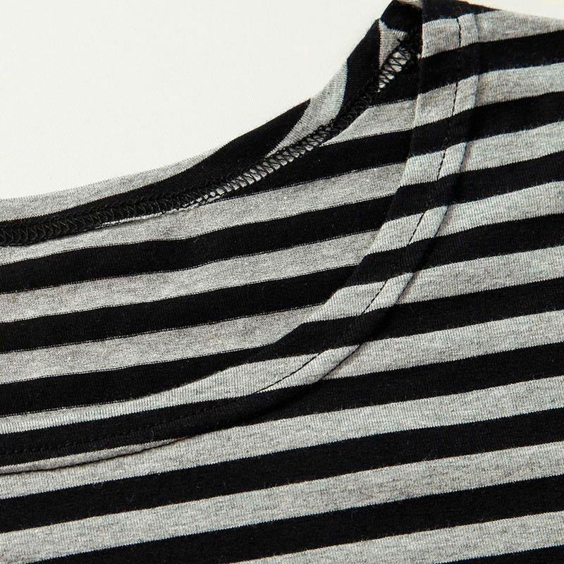 2016 Men t shirts tyga hip hop swag striped long sleeve t shirt extended kanye west men oversized tee shirt homme t shirt men (7)