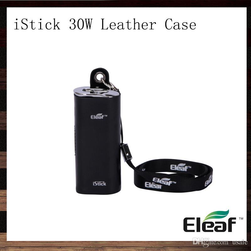 Eleaf iStick 30W Custodia in pelle iStick eCig Custodia da trasporto Custodia Custodia eGo Lanyard per iStick 30W Mod Batteria 100% Originale