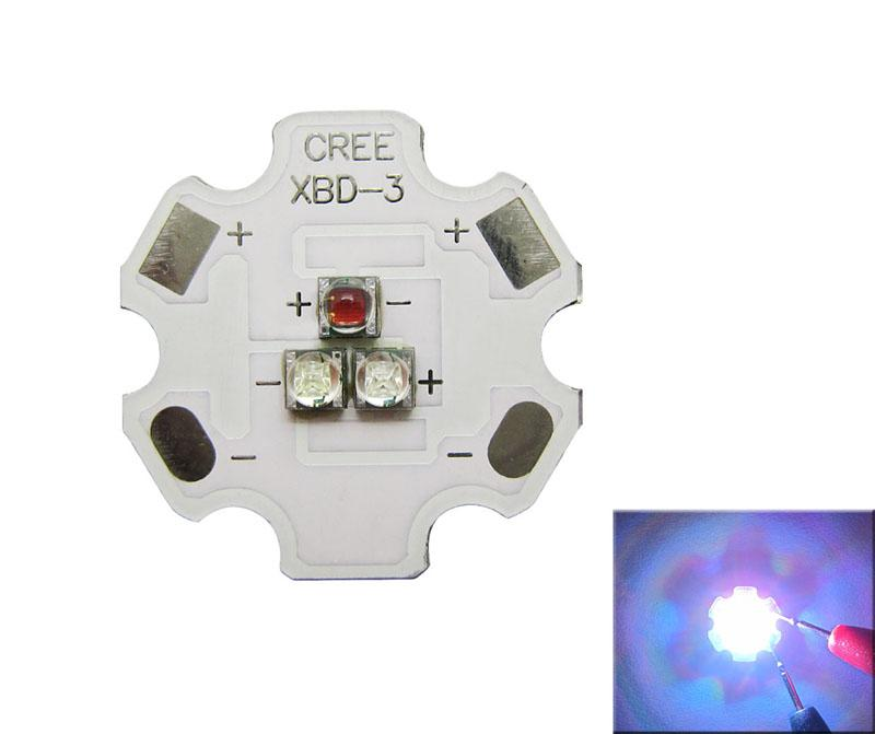 Cree XB-D XBD 9W 3 Leds Blue Green Red Yellow Warm White Mixcolor 350-700MA Led Light DIY 50pcs/lot