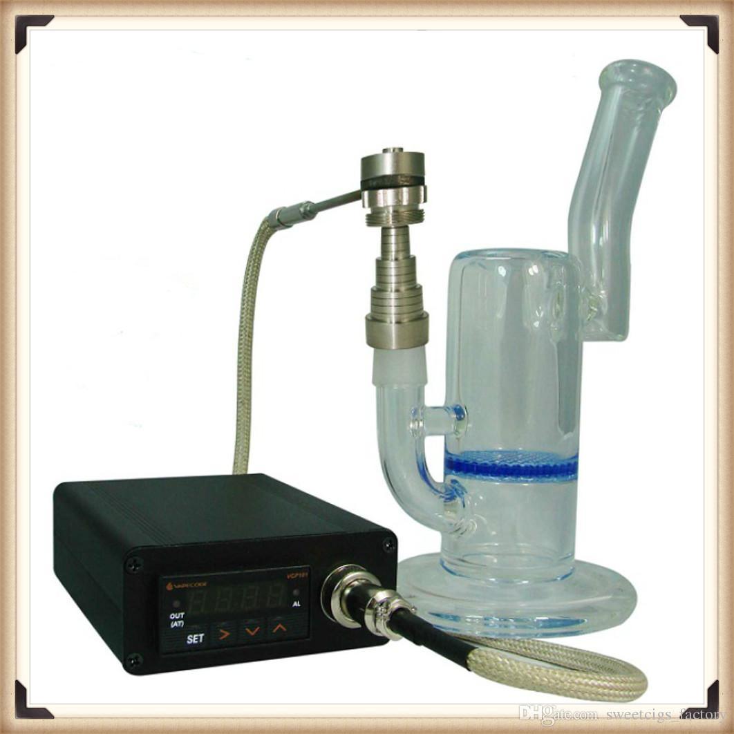 Caja de control de la temperatura del clavo eléctrico para el fumador de bricolaje Clavo del clavo elecronic Clavo de titanio encaja en 10/14/18 mm cera de vidrio tubos de agua cera