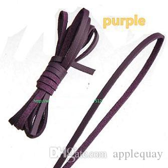 DIY Cords 3mm Flat Narrow Leather For Jewelry Making Necklaces Choker Collar Multilayer Bracelet Braided Ropes Single Velvet Imitate PU 100m