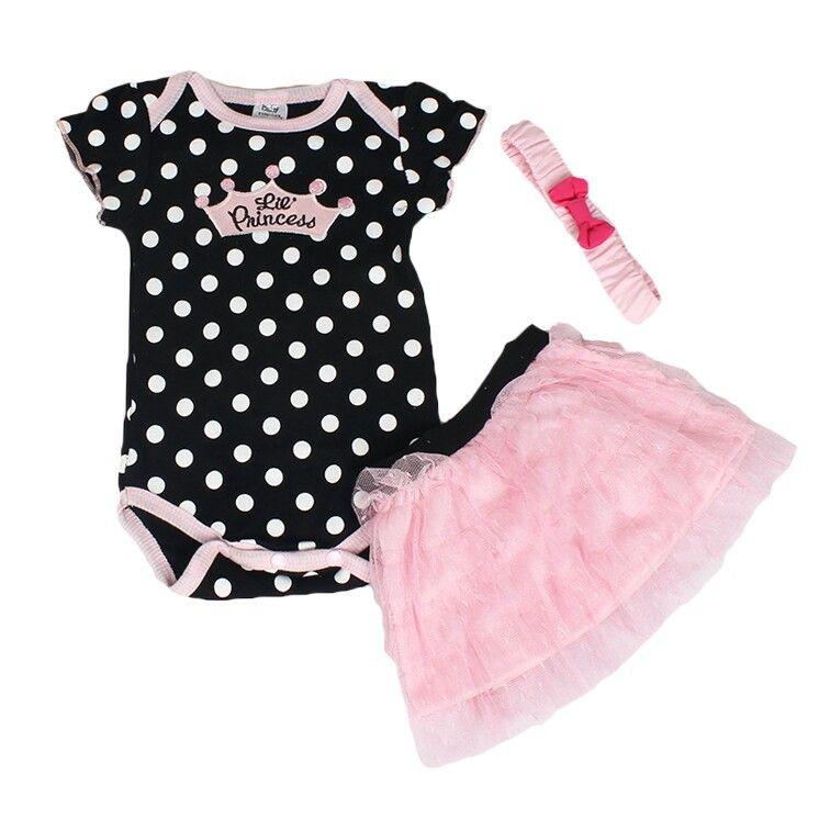 children set baby clothing romper headband skirt girl sports suits kids jumpsuit newborn outfits bodysuit 3pcs kids sets