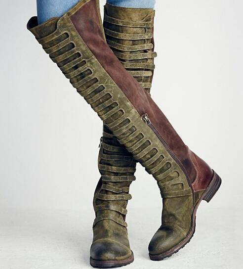 Großhandel Hochwertige Damen Overknee Stiefel Bequeme Overknee Stiefel Schwarz Dicker Absatz Oberschenkel Damen Stiefel Kostenloser Versand Von
