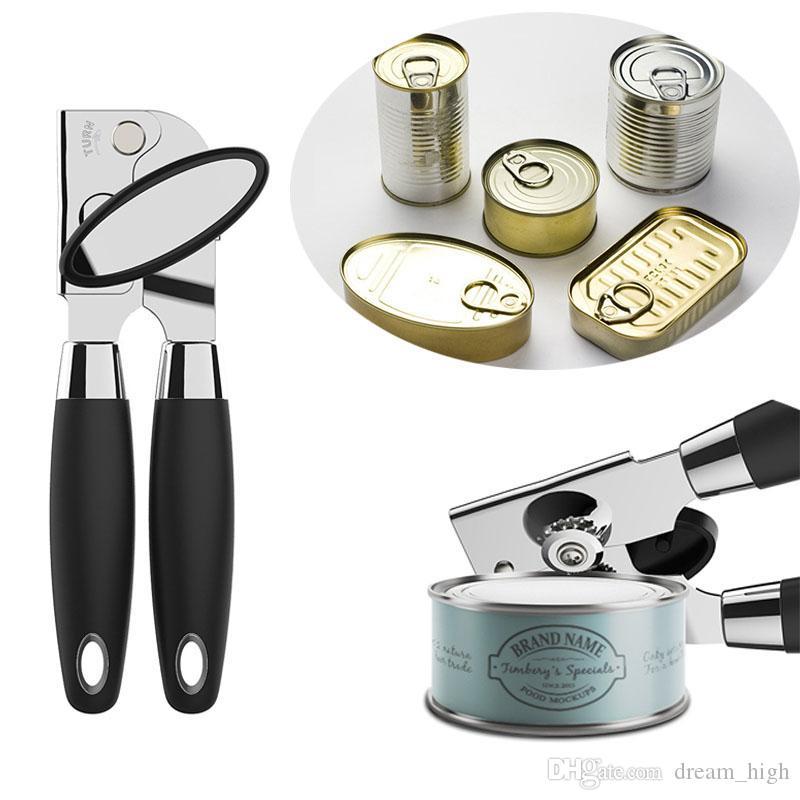 Abridor De Lata De Metal Forte Heavy Duro Aço Inoxidável Pode Abridor De Garrafas Prático Ferramenta de Cozinha Em Casa de alta Qualidade