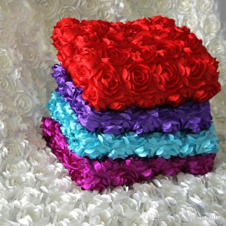 2015 الفاخرة الزفاف المركزية تفضل 3d روز البتلة السجاد الممر عداء لحفل زفاف الديكور اللوازم 12 اللون
