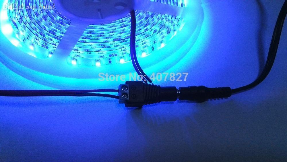 Wholesale-5M LED قطاع ضوء الأشعة فوق البنفسجية اللون الأرجواني ضوء ماء IP65 3528 مصلحة الارصاد الجوية 60led / M DC12V ليلة الصيد قارب BlackLight