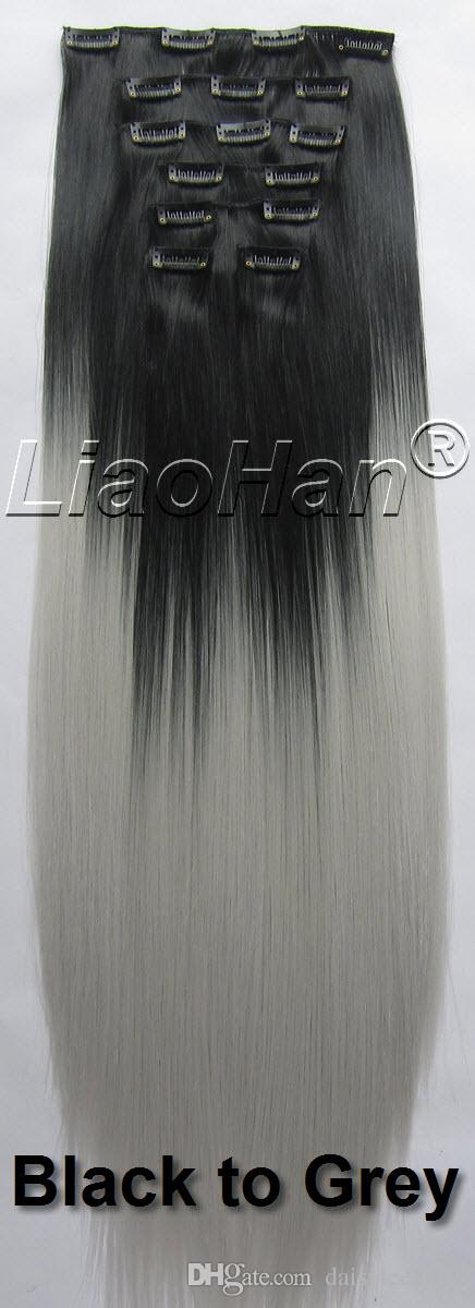 Clip In Ombre Hair Extensions Straight Long Clip In Hair Extensions