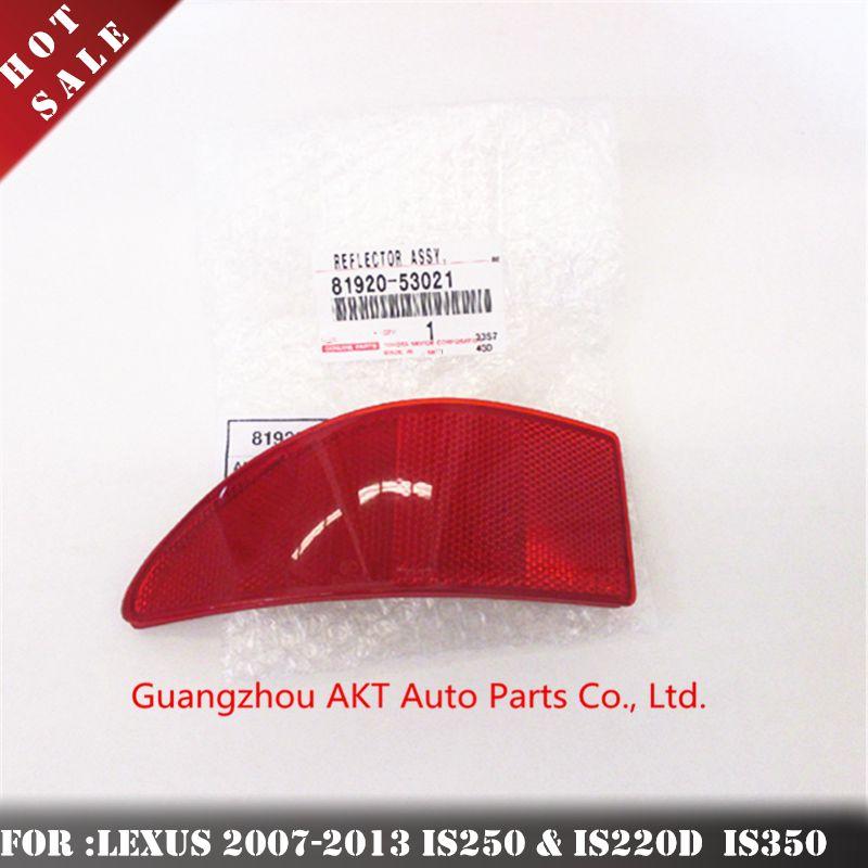 GENUINE LH /& RH REAR BUMPER REFLECTORS FITS LEXUS IS 81910-53021 81920-53021