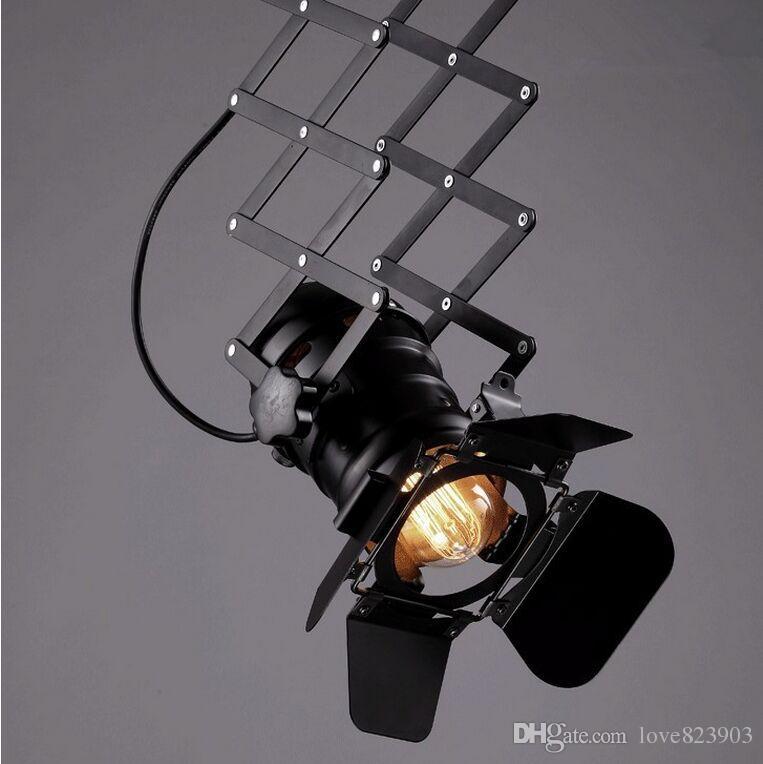 Yeni Bağbozumu Küçük Duvar Işık RH Loft l Lambalar Ev Dekorasyon Restoran Yemek Odası için E27 90 V-240 V kamera tasarım droplight Ücretsiz Kargo