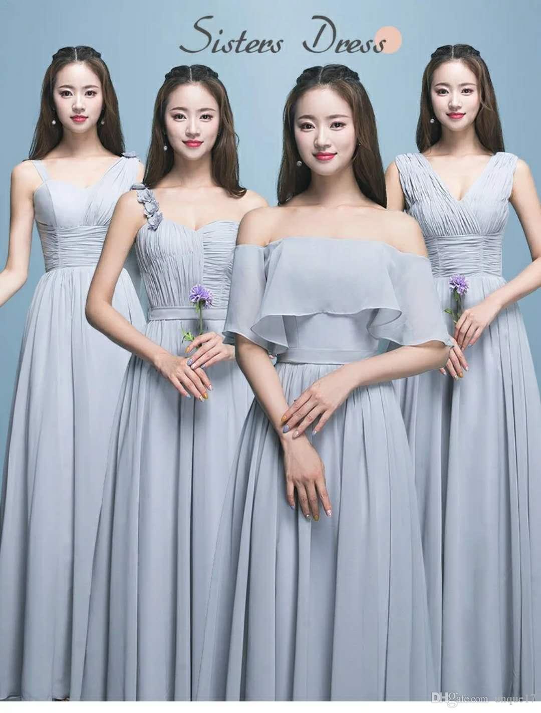 Winter gray bridesmaid dress bridesmaid dress long 2017 new slim winter gray bridesmaid dress bridesmaid dress long 2017 new slim sisters korean version of the long ombrellifo Gallery