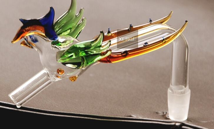 水道パイプガラスヤンジークラシックウォーターパイプフェニックスガラスは曲から出る(50 /ロット)