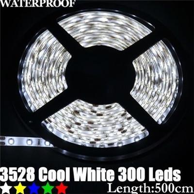 2015 High quality SMD 3528 300 leds 5M DC12V waterproof Flexible LED strip white red blue RGB LED Lights