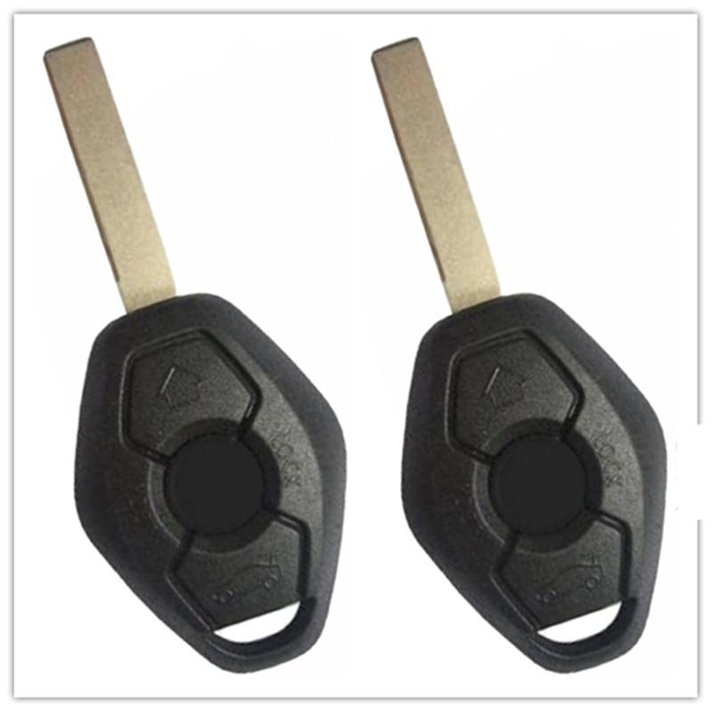 2Pcs New Remote Keyless Uncut 3 Buttons Car Key Shell Case Fob For BMW X3 X5 Z3 Z4 325i 525i 330i Fob With LX8 FZV No Chip