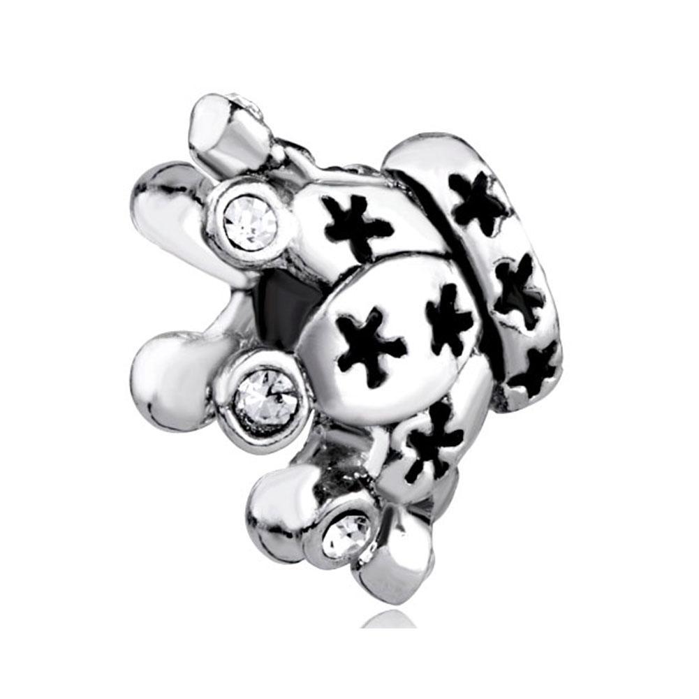 Мода Ювелирные Изделия Большое Отверстие Прозрачный Кристалл Камень Корона Европейский Металлический Шарик Подвески Браслеты Подходят Для Всех Брендов