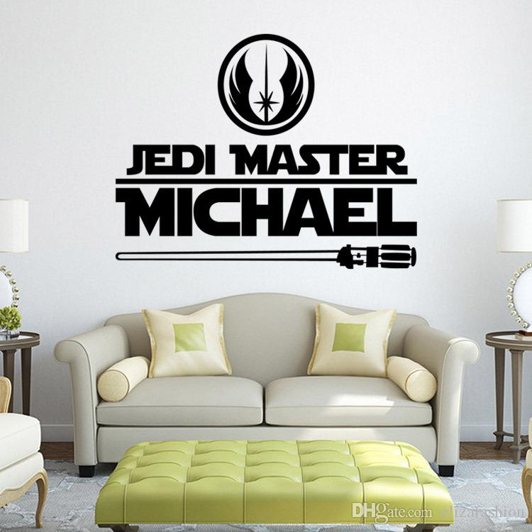 Jedi Master Michael Decals Star Wars Wall Decals Art Murals Sticker