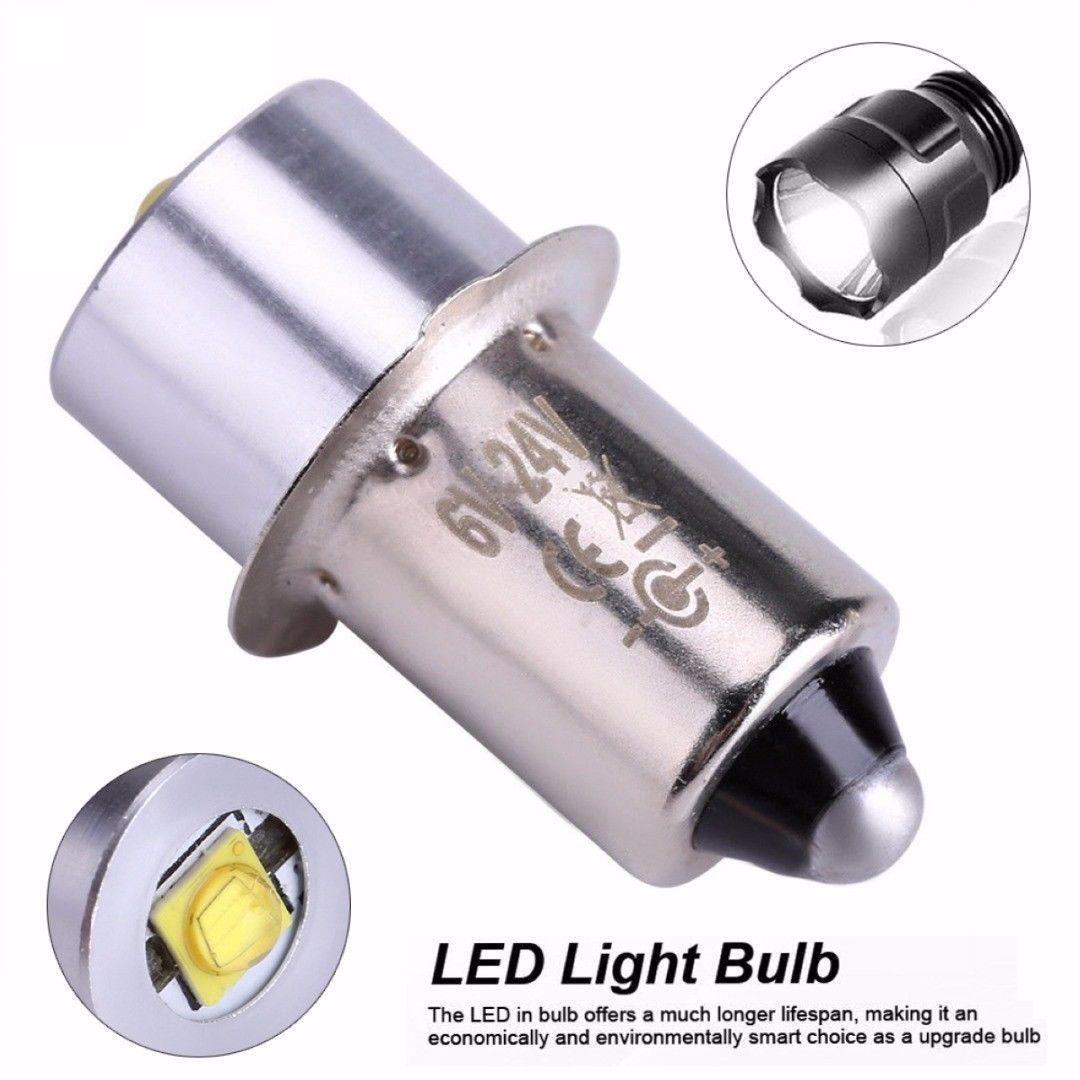 لمبات استبدال الصمام ترقية لمبة 3W 18V P13.5S PR2 قاعدة LED للأضواء الشعلة خلايا المصباح ضوء العمل C + D