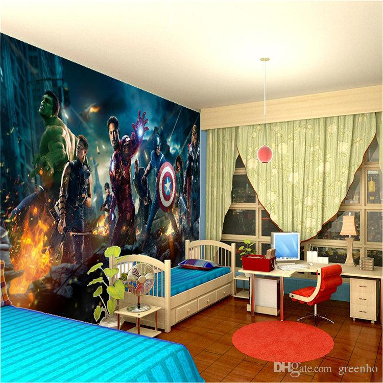 ... The Avengers Wall Mural Hulk Captain Americ Thor Photo Wallpaper Movie  Poster Custom Wall Mural Kids ...