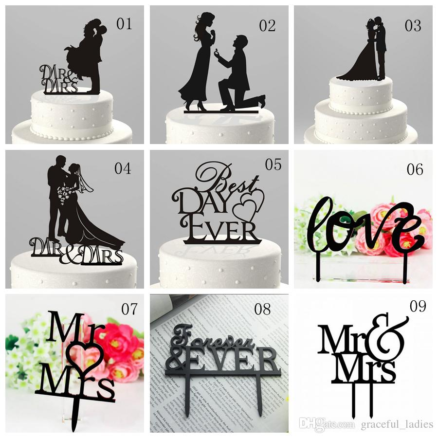 Unique Bride Groom Wedding Cake Topper UK Wholesale Decorations Favors Toppers For