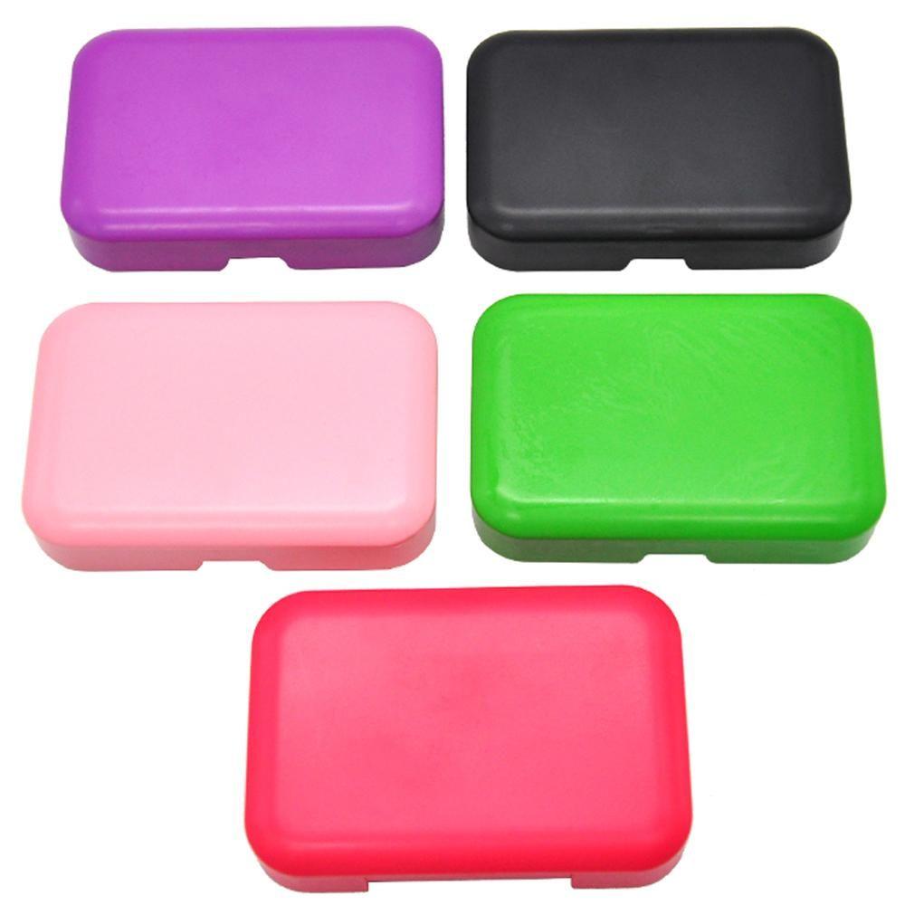 Tragbare Taschengröße Kunststoff-Tabak-Box (110mm * 75mm) Zigarettenspeicher-Case-Farbe zufällig