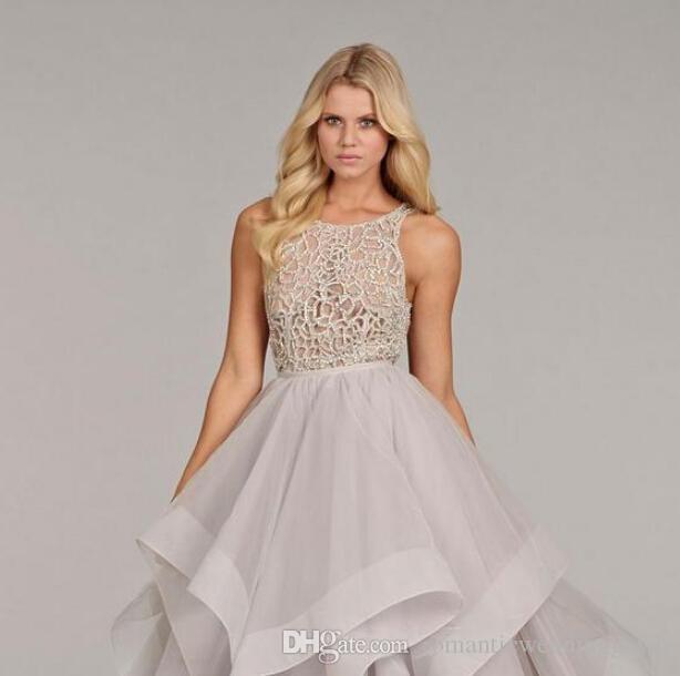 silver bridal gown ruffles