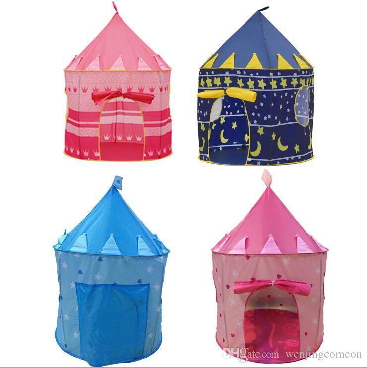 Tende da gioco per bambini Tenda principe e principessa Festa per bambini Tenda da esterno per interni Gioco Casa 4 colori per scegliere