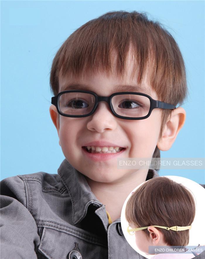 Telaio Ragazzo Occhiali con cinghia Dimensioni 43/16 un pezzo nessuna vite di sicurezza, Occhiali per bambini ottici, Bendable Ragazze flessibile Occhiali