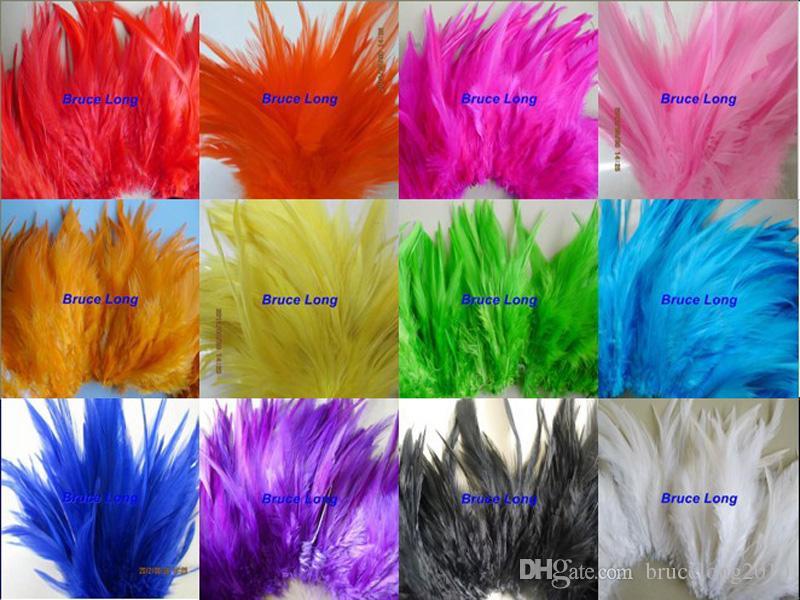 Mescolare i colori piume di gallo piuma di fagiano collana fai da te orecchino capelli cappello maschera decorazione piuma trim boa 1000 pz 4-6 pollici 10-15 cm
