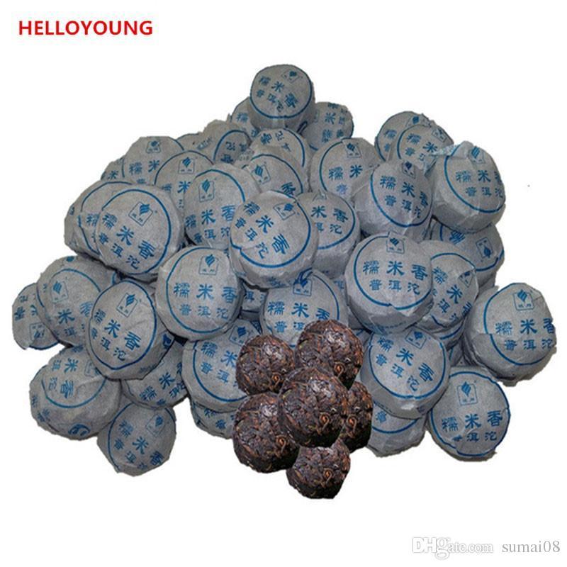 Preferencia 100g de Yunnan Top-Grade arroz pegajoso fragancia madura Puer torta del té orgánico Negro Natural Pu'er viejo árbol del té de Puer cocido