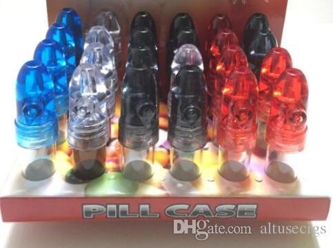 Snuff Bullet Box Dispenser Snuffer 67mm ارتفاع أكريليك الزجاج الفخم صاروخ قنينة زجاجة السعوط الفخم موزع الشم