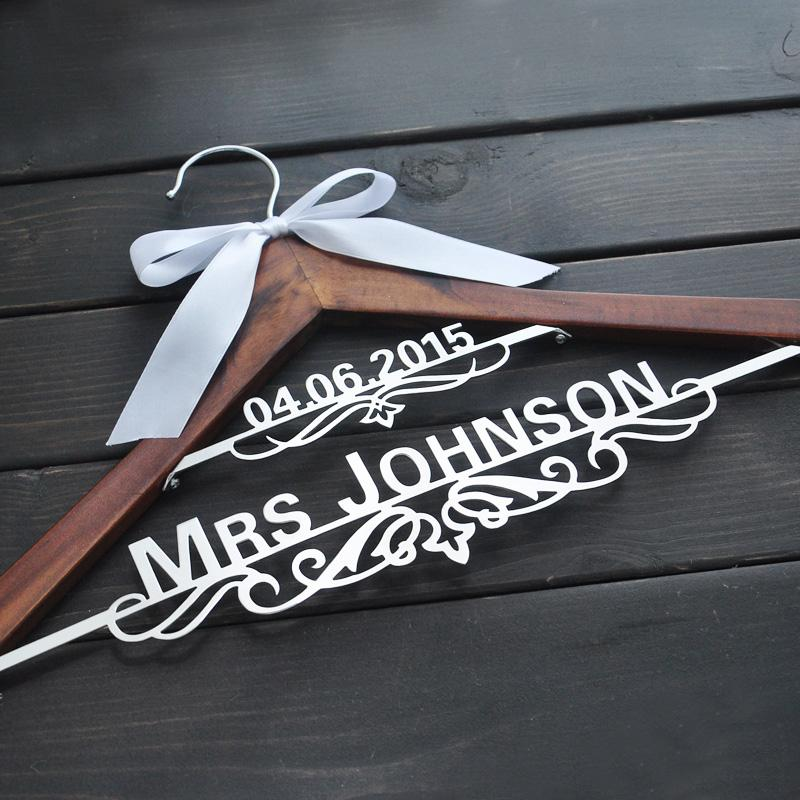 2019 Personalized Bridal Hanger, Custom Wedding Hanger, Custom Wooden  Wedding Hanger, Personalized Rustic Wedding Dress Hanger, Bridal Hanger  From