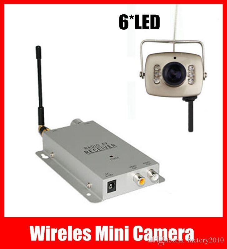6 LED IR Wireles Mini Camera + 1.2GHz Wireless Receiver, Home Security Nanny Pinhole CCTV Camera Kit Free Shipping