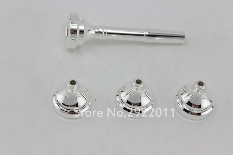 Boyut 3c 5c 7c 1.5c Trompet Ağızlık Trompete Trompet Ağızlık Seti silvering Kaplama In Stok Ücretsiz Kargo
