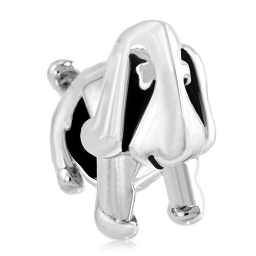 Personalized jewelry cute dog animal European bead metal charm ladies bracelet with large hole Pandora Chamilia Compatible