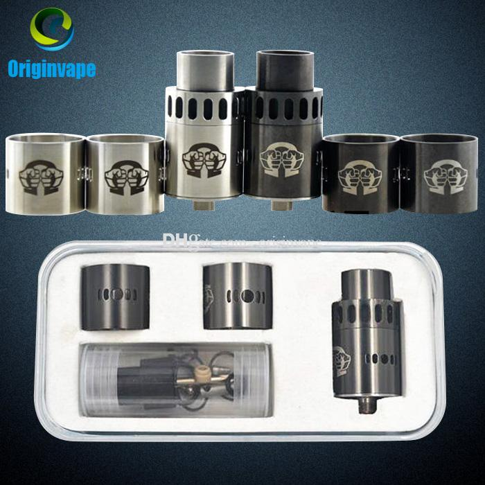 Alliance RDA Rebuildable Atomizer Clone Tank 2 Colors 22mm with Airflow Metal Drip Tips fit 510 Mods DHL Free Shipping