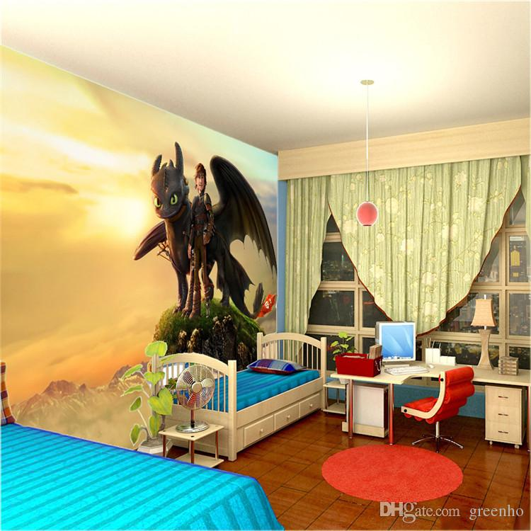 Custom Large Size Wall Mural How To Train Your Dragon Photo ...