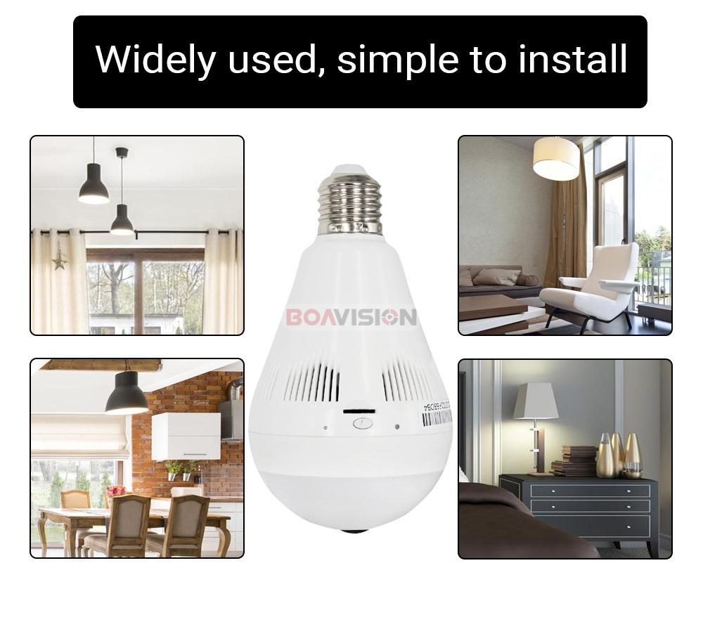 3- Bulb Light Wi-fi Camera