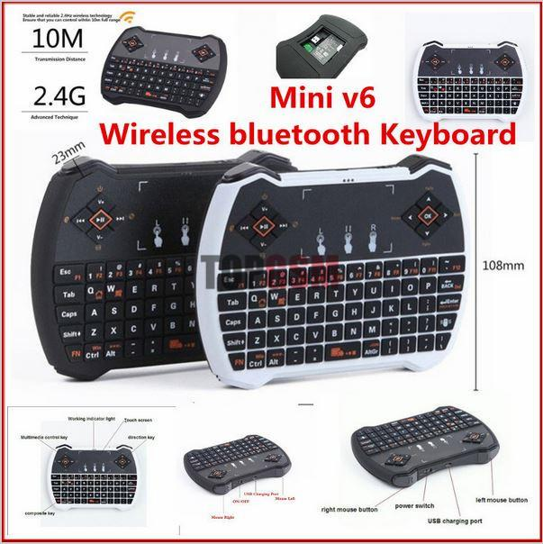 V6 Multi Function 2.4 GHz Mini Wireless Gaming Keyboard Air Mouse V6 Touchpad MIC Audio Chat per computer portatili Smart TV Box Mini PC