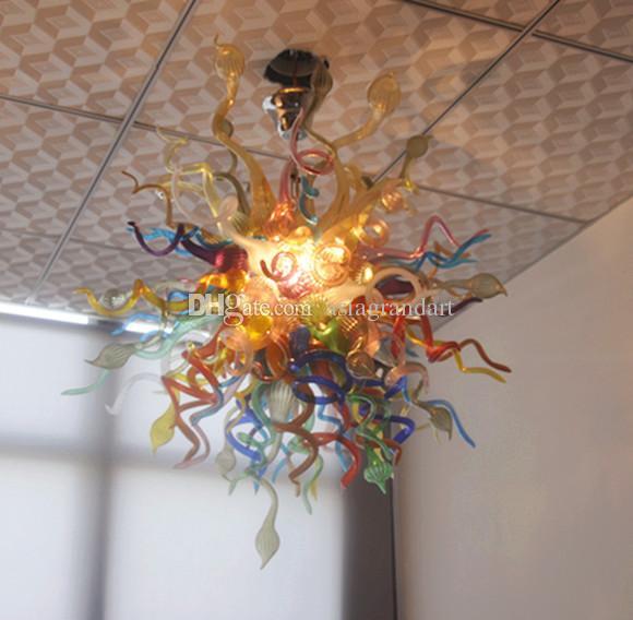 100 % 입 풍선 CE UL 붕규산 무라노 유리 데일 치 훌리 (Dale Chihuly) 예술 높은 품질 현대 크리스탈 천장 램프