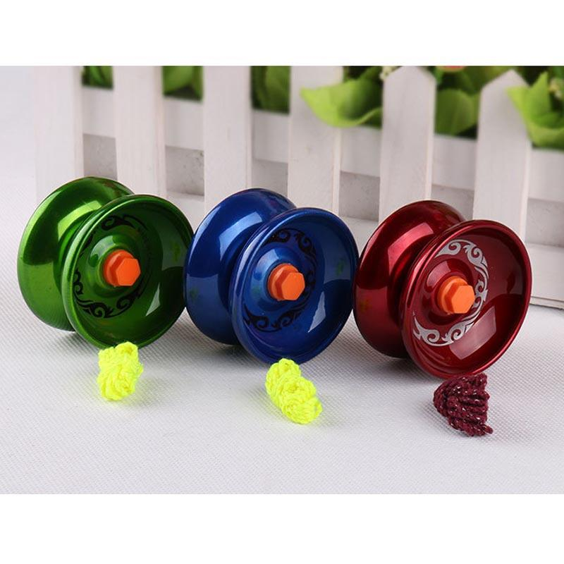 New Arrival 1PCS Aluminum Design Professional Yo Yo Ball Bearing String Trick Children Funny Toys Random Color