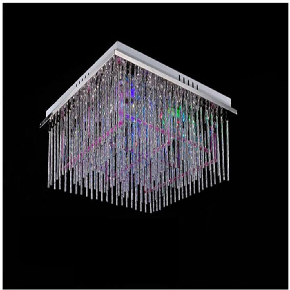 best loved c1cef 63636 Chandelier,Led Light Modern Crystal Chandelier E27*450mm*450mm RGB Color  Change Stainless Steel Chandeliers Ceiling Lighting With Remot Multi  Coloured ...