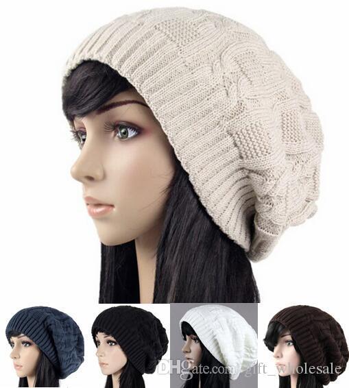 Prix le plus bas ! Mode Hiver Femmes Bonnets Chaud Tricot Chapeaux Modèle Triangulaire Vente Chaude Couple Casquettes 20pcs / lot