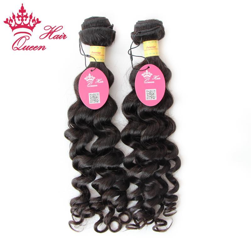 Queen Hair Products Peruanisches Reines Haar Mehr Welle 2 STÜCKE Lot Top Qualität Bündel 100% Menschliches Haar Schneller Versand