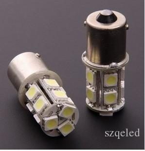 50pcs/lots 1156/1157 BA15S P21W 13 SMD 5050 13 LED 13led 13smd Brake Tail Turn Signal Light Bulb Lamp white Auto led Car bulb light 12V