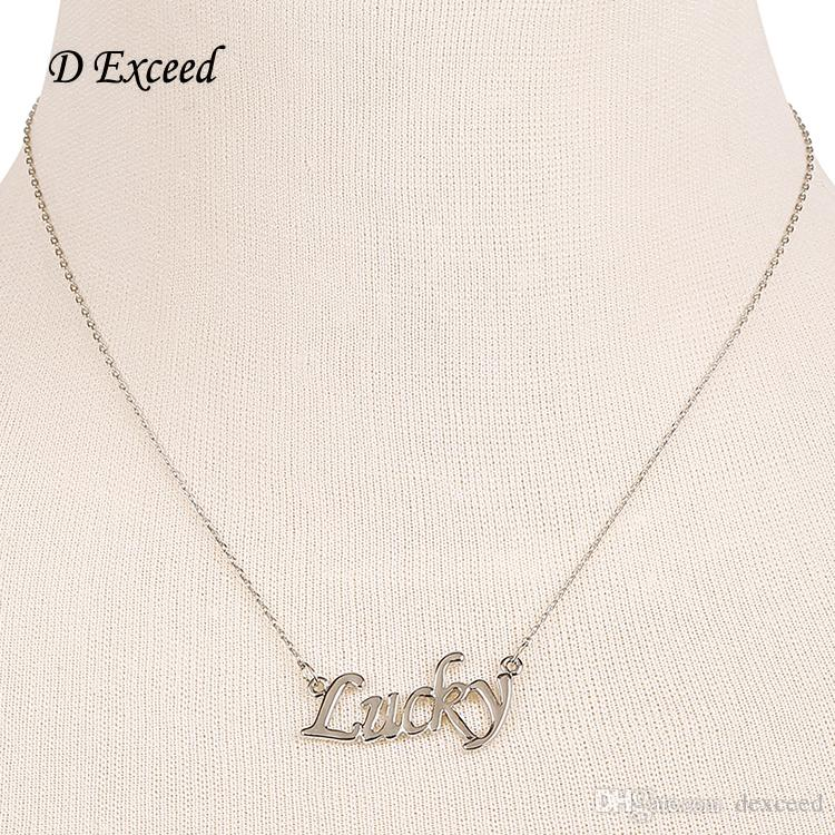 European Silver Color Simple Elegant Thin Chain Necklace With ...