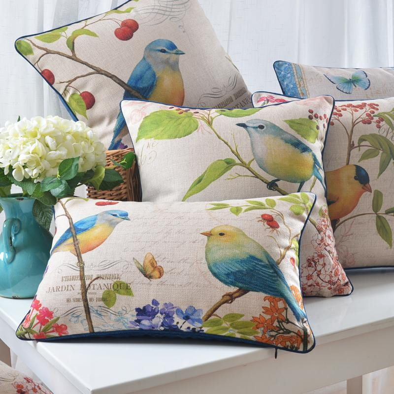 24 Styles Birds And Cherry Tree Custom Cushion Covers Sailing Boat Flower  Pillows Case Pillow Cover Wedding Gift Sofa Chairr Decoration Deep Seating