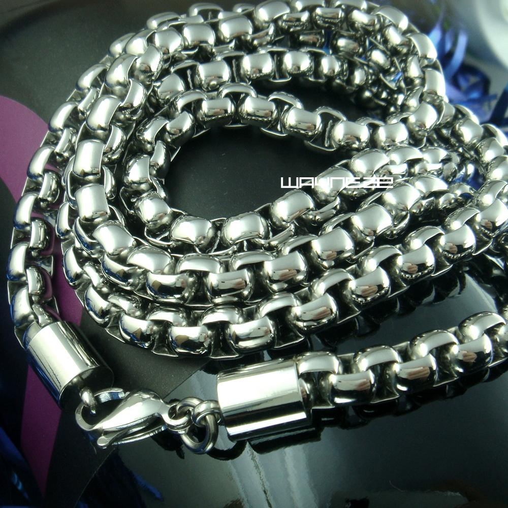 Gioielli di moda da donna in acciaio inossidabile 316L tono tono argento da uomo 60cm N261