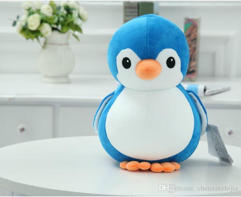 """Commercio all'ingrosso 8 """"Cute Penguin Kids peluche giocattolo farcito bambola animale cuscino cuscino per bambini regali"""